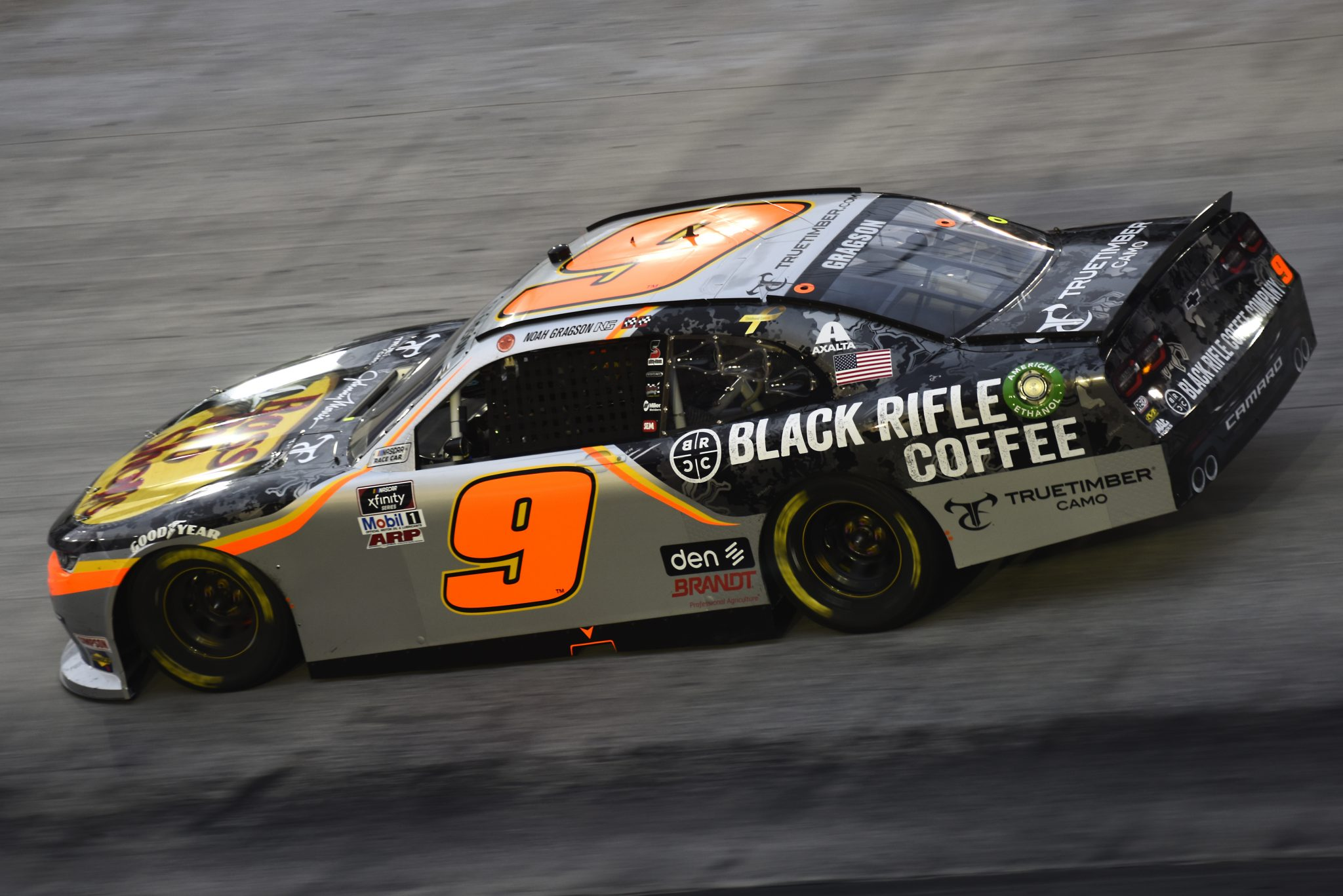 BRISTOL, TENNESSEE - SEPTEMBER 18: Noah Gragson, driver of the #9 Bass Pro Shops/Black Rifle Coffee Chevrolet, drives during the NASCAR Xfinity Series Food City 300 at Bristol Motor Speedway on September 18, 2020 in Bristol, Tennessee. (Photo by Jared C. Tilton/Getty Images) | Getty Images