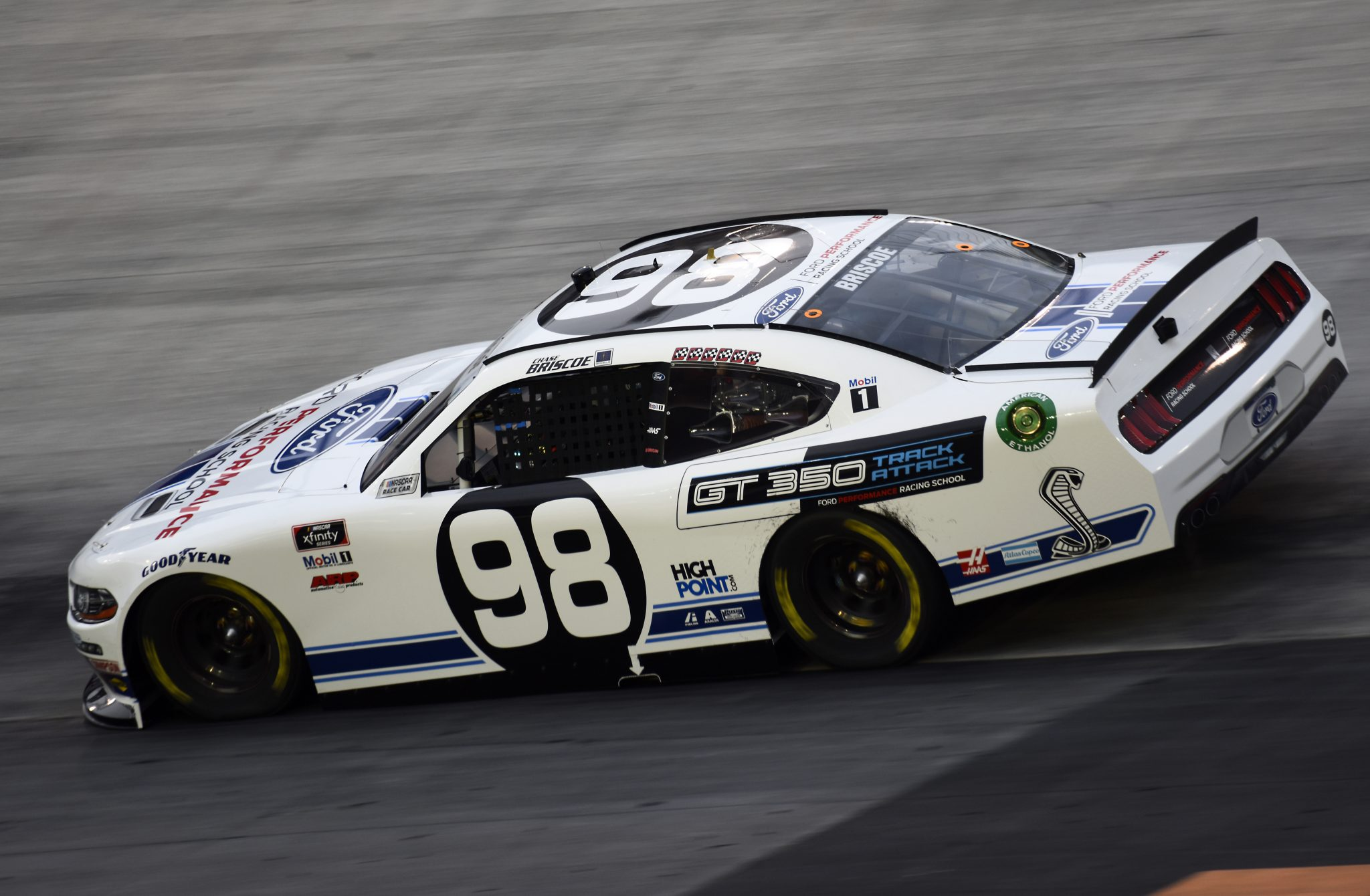 BRISTOL, TENNESSEE - SEPTEMBER 18: Chase Briscoe, driver of the #98 Ford Performance Racing School Ford, drives during the NASCAR Xfinity Series Food City 300 at Bristol Motor Speedway on September 18, 2020 in Bristol, Tennessee. (Photo by Jared C. Tilton/Getty Images) | Getty Images