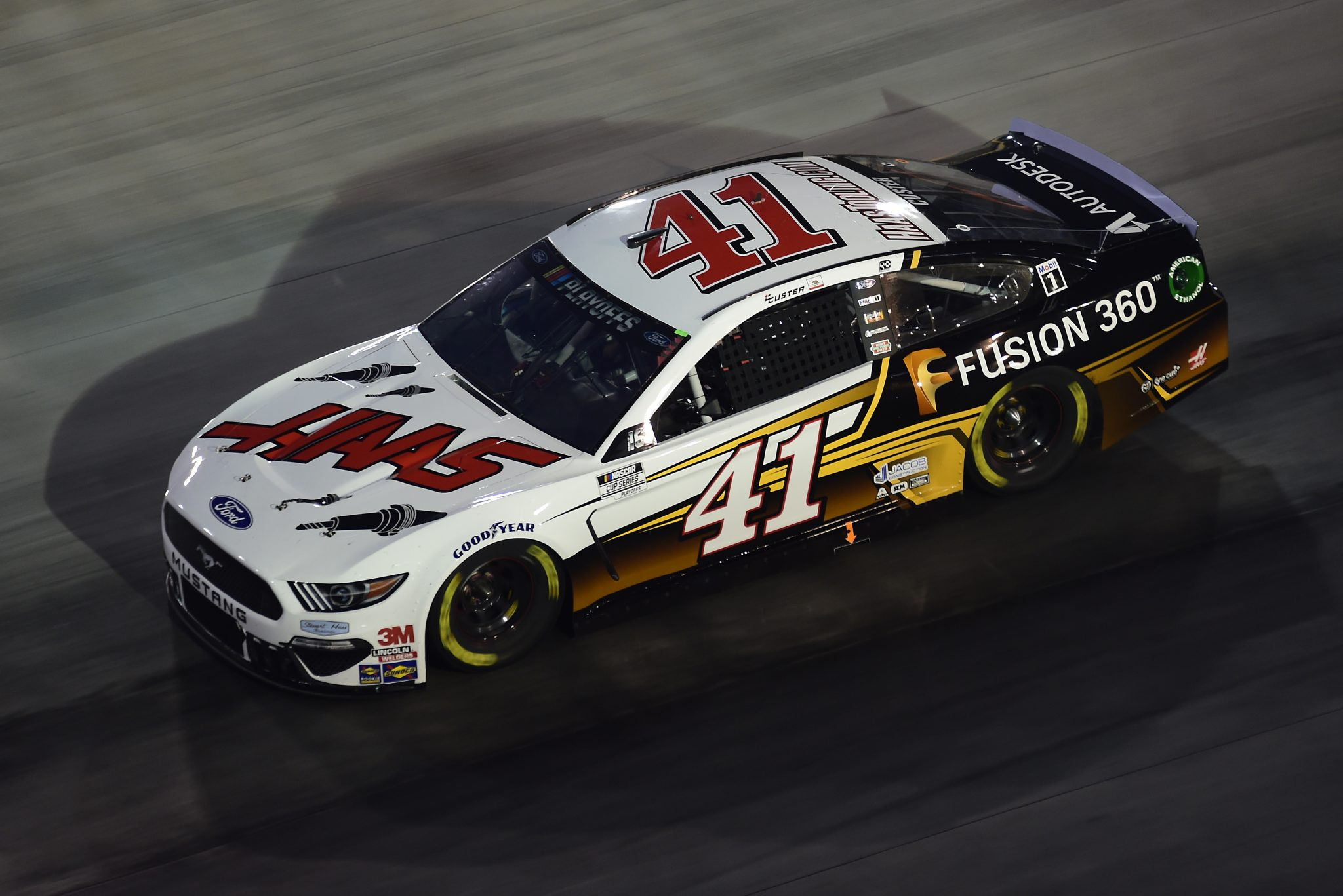 BRISTOL, TENNESSEE - SEPTEMBER 19: Cole Custer, driver of the #41 HaasTooling.com/Autodesk Ford, drives during the NASCAR Cup Series Bass Pro Shops Night Race at Bristol Motor Speedway on September 19, 2020 in Bristol, Tennessee. (Photo by Jared C. Tilton/Getty Images) | Getty Images