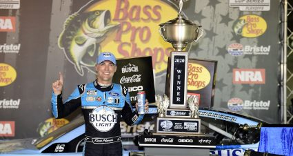 Kevin Harvick holds off Kyle Busch for intense Bristol victory