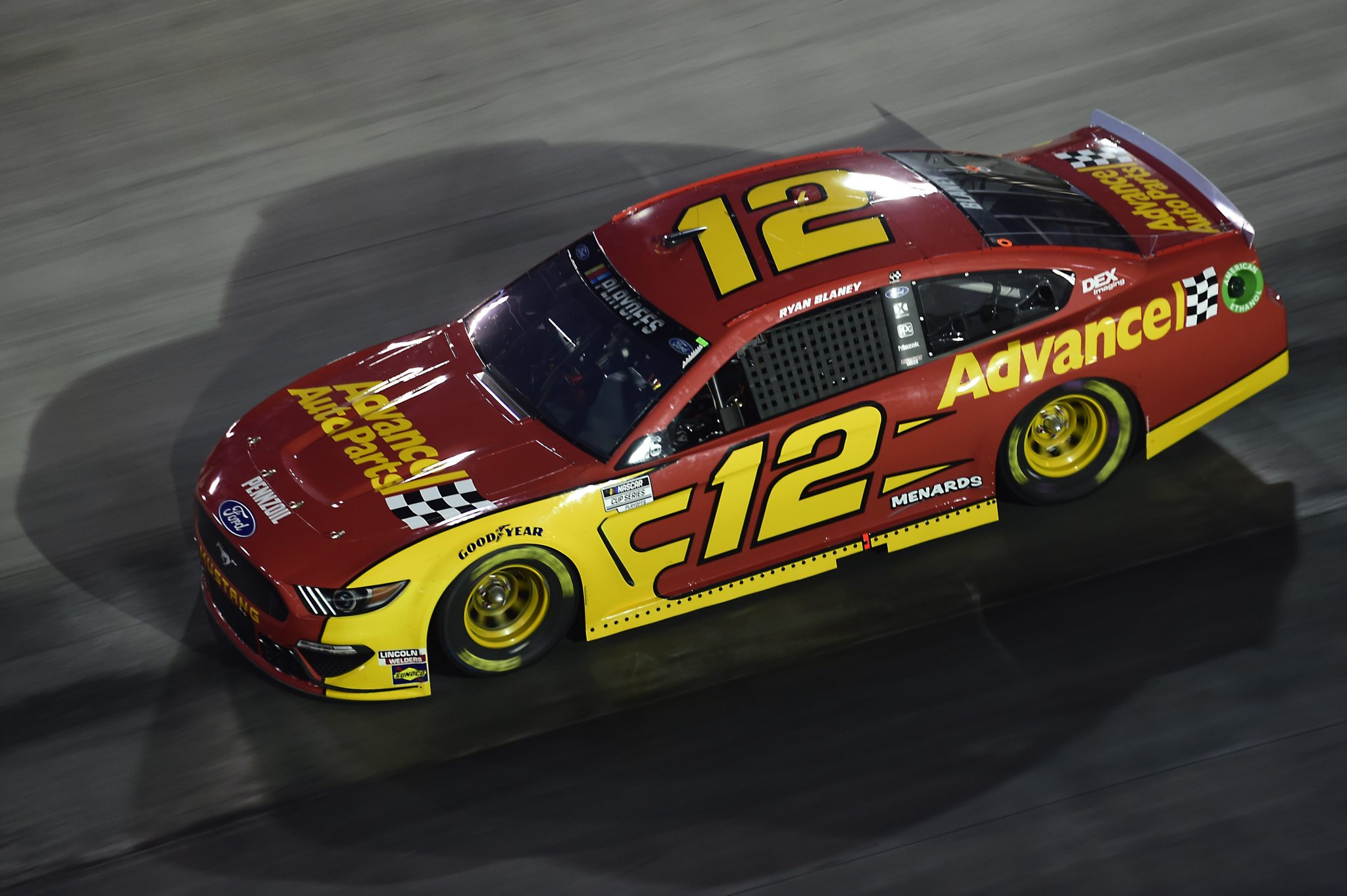 BRISTOL, TENNESSEE - SEPTEMBER 19: Ryan Blaney, driver of the #12 Advance Auto Parts Ford, drives during the NASCAR Cup Series Bass Pro Shops Night Race at Bristol Motor Speedway on September 19, 2020 in Bristol, Tennessee. (Photo by Jared C. Tilton/Getty Images) | Getty Images