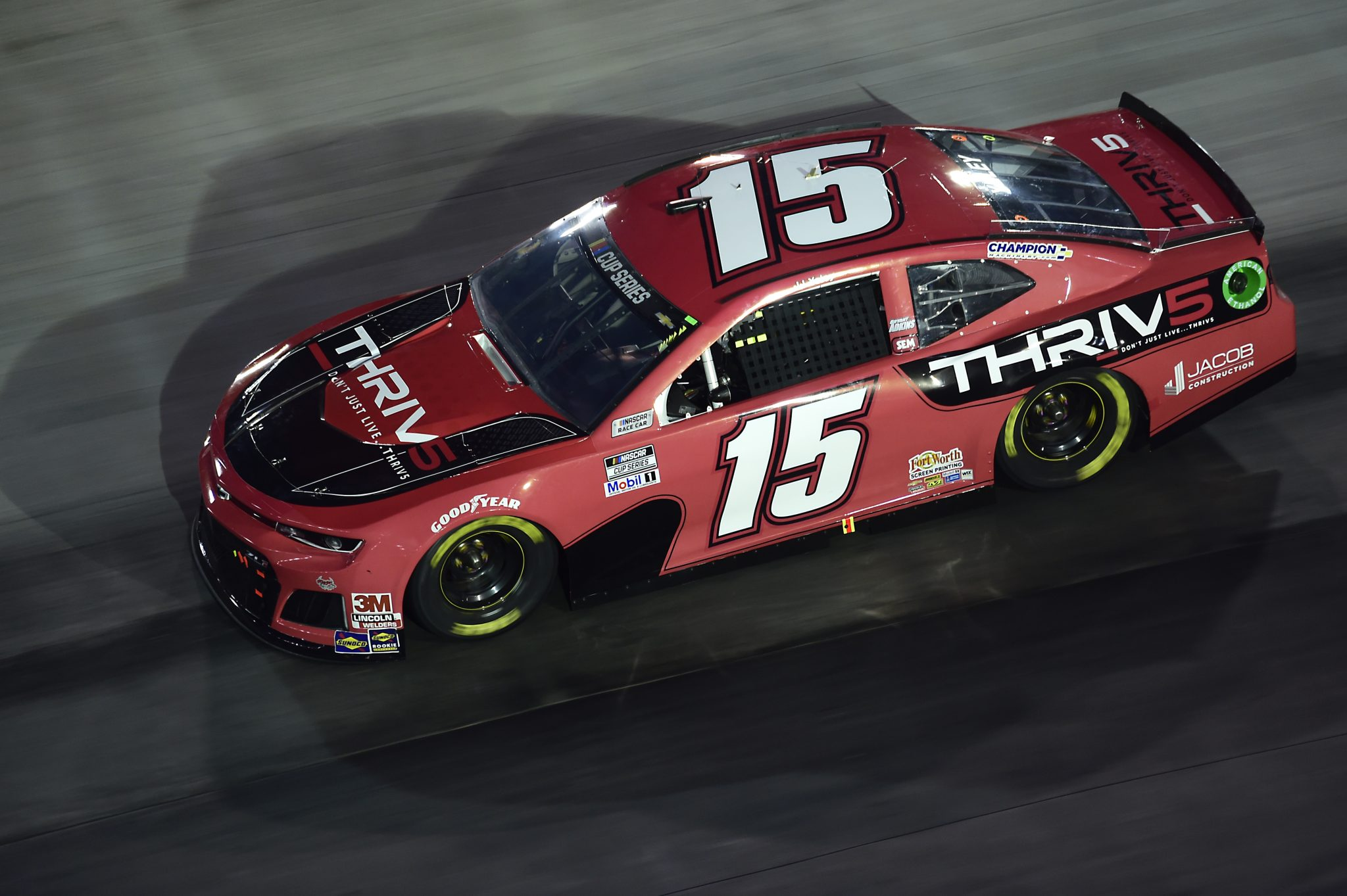 BRISTOL, TENNESSEE - SEPTEMBER 19: Brennan Poole, driver of the #15 Chevrolet, drives during the NASCAR Cup Series Bass Pro Shops Night Race at Bristol Motor Speedway on September 19, 2020 in Bristol, Tennessee. (Photo by Jared C. Tilton/Getty Images) | Getty Images