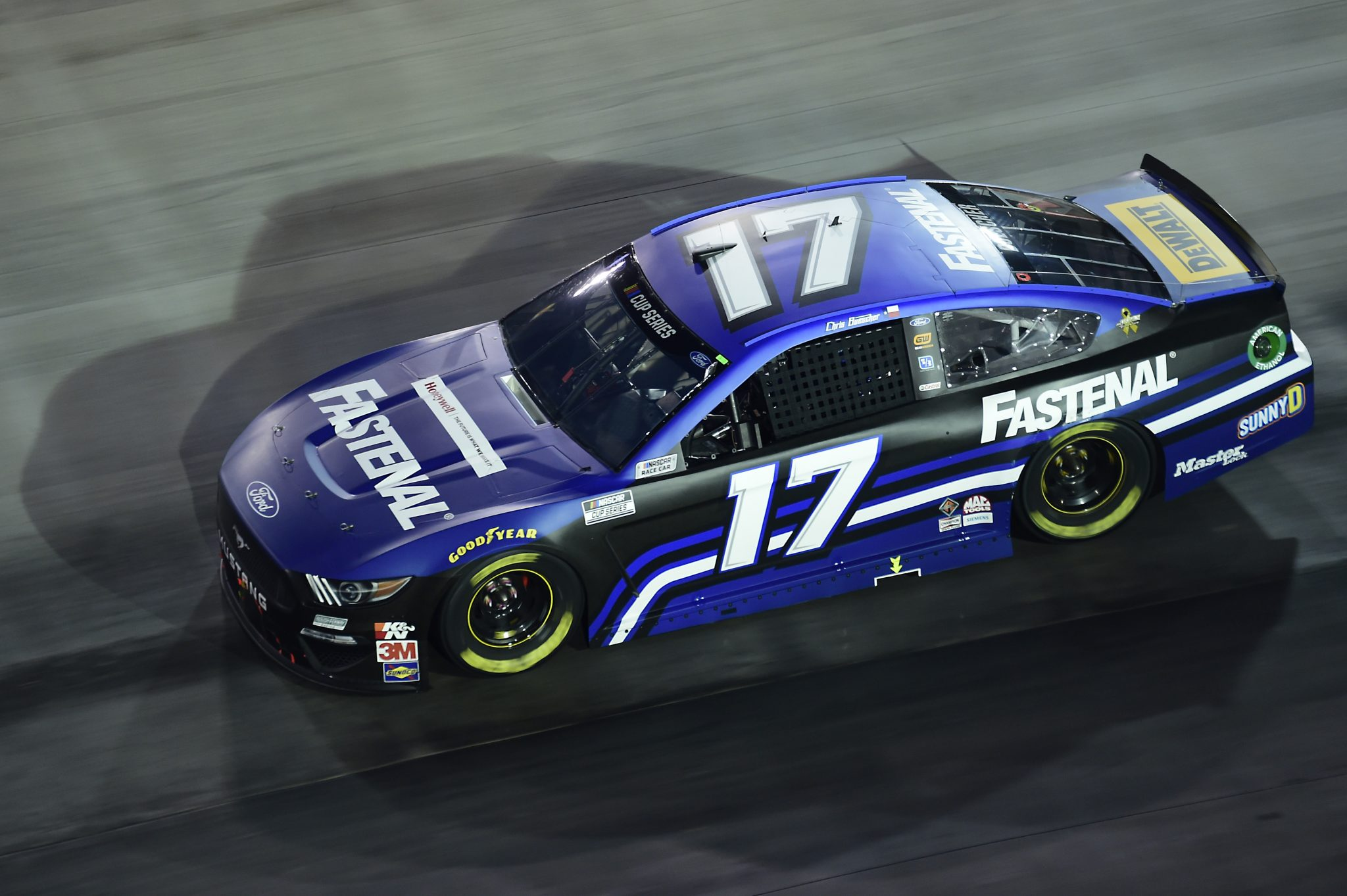 BRISTOL, TENNESSEE - SEPTEMBER 19: Chris Buescher, driver of the #17 Fastenal Ford, drives during the NASCAR Cup Series Bass Pro Shops Night Race at Bristol Motor Speedway on September 19, 2020 in Bristol, Tennessee. (Photo by Jared C. Tilton/Getty Images) | Getty Images