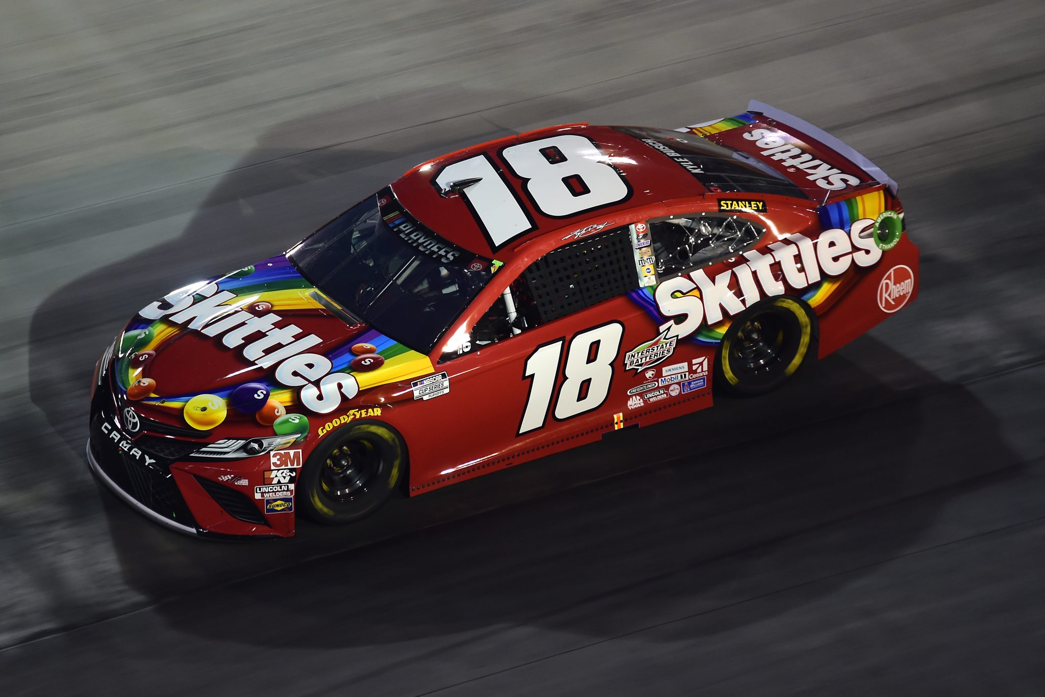 BRISTOL, TENNESSEE - SEPTEMBER 19: Kyle Busch, driver of the #18 Skittles Toyota, drives during the NASCAR Cup Series Bass Pro Shops Night Race at Bristol Motor Speedway on September 19, 2020 in Bristol, Tennessee. (Photo by Jared C. Tilton/Getty Images) | Getty Images