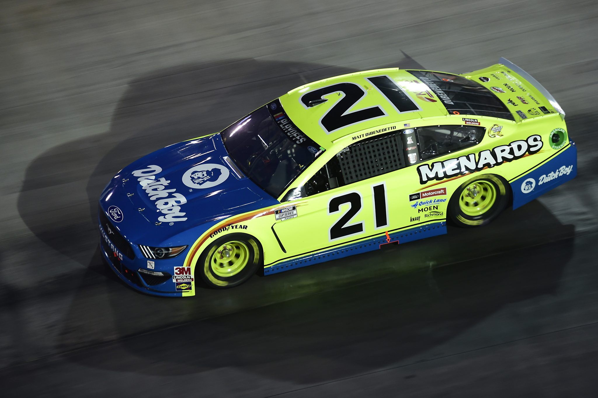 BRISTOL, TENNESSEE - SEPTEMBER 19: Matt DiBenedetto, driver of the #21 Menards/Dutch Boy Ford, drives during the NASCAR Cup Series Bass Pro Shops Night Race at Bristol Motor Speedway on September 19, 2020 in Bristol, Tennessee. (Photo by Jared C. Tilton/Getty Images) | Getty Images