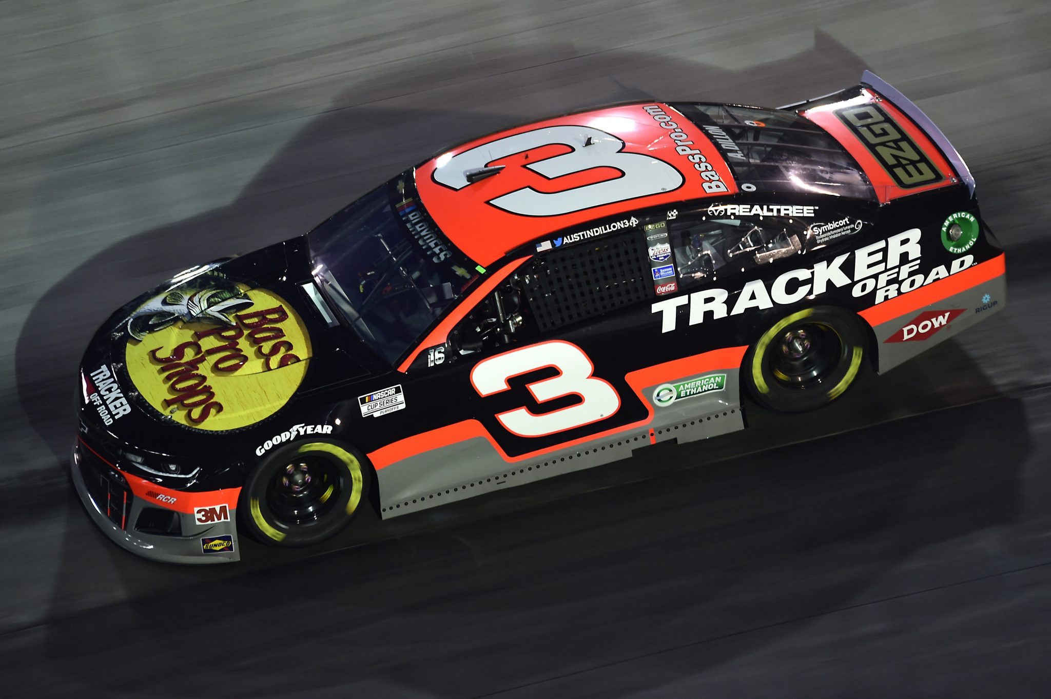BRISTOL, TENNESSEE - SEPTEMBER 19: Austin Dillon, driver of the #3 Bass Pro Shops/Tracker Off Road Chevrolet, drives during the NASCAR Cup Series Bass Pro Shops Night Race at Bristol Motor Speedway on September 19, 2020 in Bristol, Tennessee. (Photo by Jared C. Tilton/Getty Images) | Getty Images