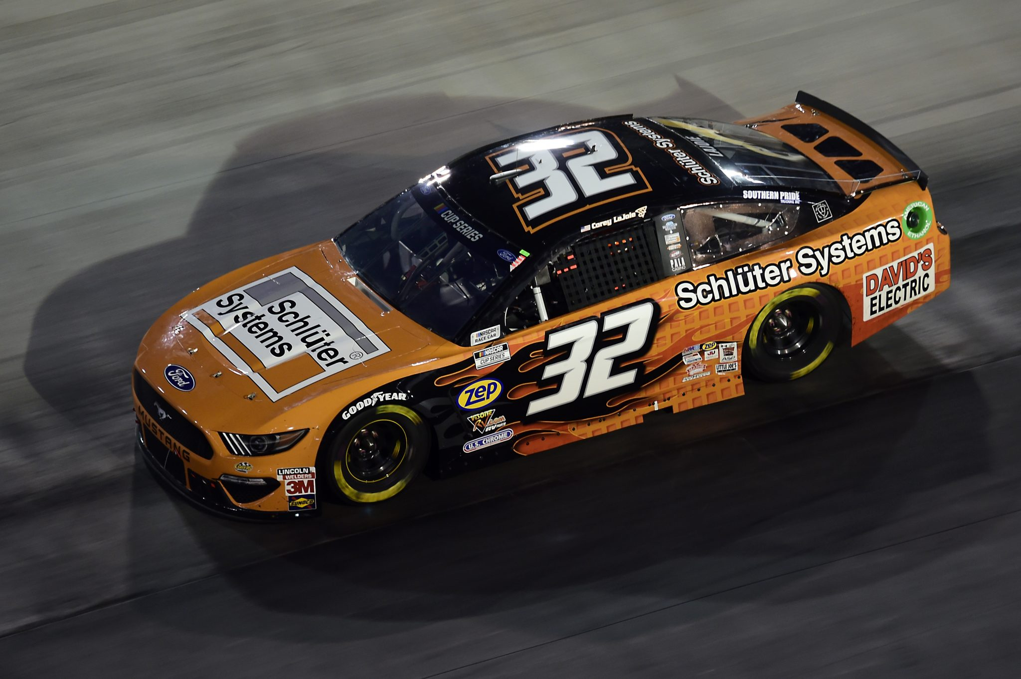 BRISTOL, TENNESSEE - SEPTEMBER 19: Corey LaJoie, driver of the #32 Schluter Systems Ford, drives during the NASCAR Cup Series Bass Pro Shops Night Race at Bristol Motor Speedway on September 19, 2020 in Bristol, Tennessee. (Photo by Jared C. Tilton/Getty Images) | Getty Images