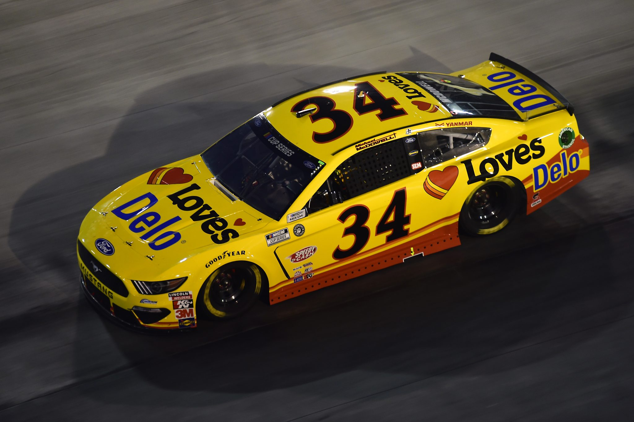 BRISTOL, TENNESSEE - SEPTEMBER 19: Michael McDowell, driver of the #34 Love's Travel Stops Ford, drives during the NASCAR Cup Series Bass Pro Shops Night Race at Bristol Motor Speedway on September 19, 2020 in Bristol, Tennessee. (Photo by Jared C. Tilton/Getty Images) | Getty Images