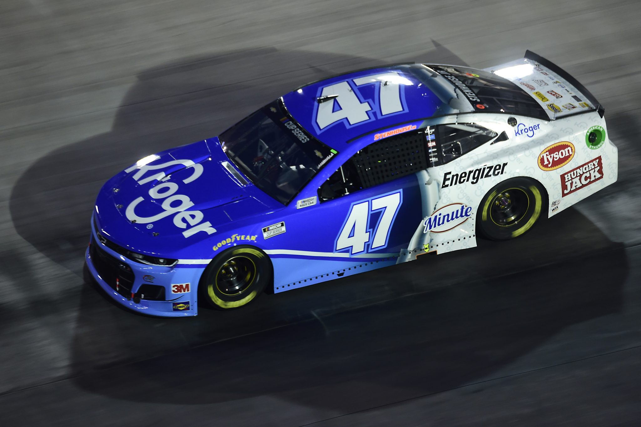 BRISTOL, TENNESSEE - SEPTEMBER 19: Ricky Stenhouse Jr., driver of the #47 Kroger Chevrolet, drives during the NASCAR Cup Series Bass Pro Shops Night Race at Bristol Motor Speedway on September 19, 2020 in Bristol, Tennessee. (Photo by Jared C. Tilton/Getty Images) | Getty Images