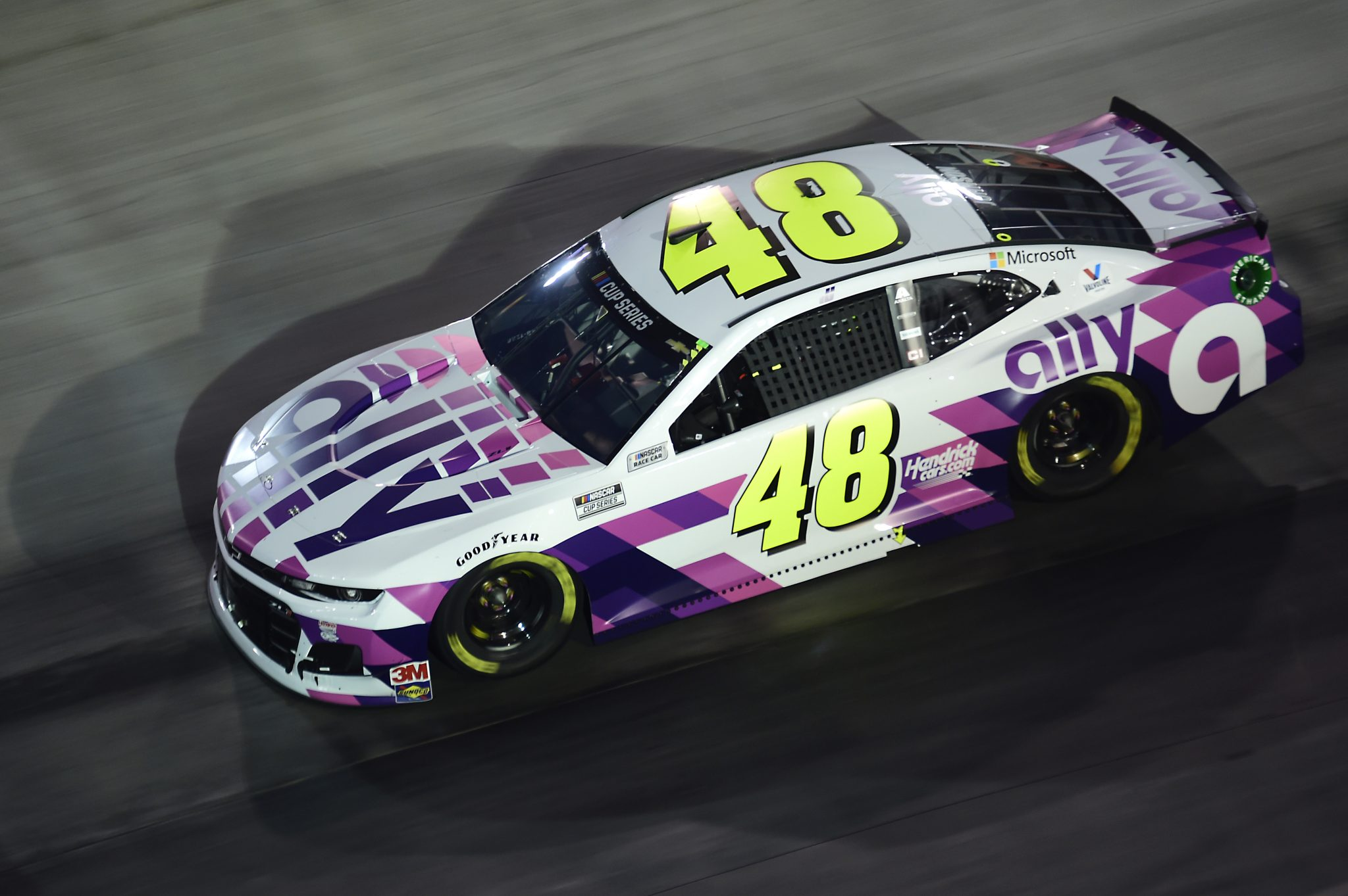 BRISTOL, TENNESSEE - SEPTEMBER 19: Jimmie Johnson, driver of the #48 Ally Chevrolet, drives during the NASCAR Cup Series Bass Pro Shops Night Race at Bristol Motor Speedway on September 19, 2020 in Bristol, Tennessee. (Photo by Jared C. Tilton/Getty Images) | Getty Images