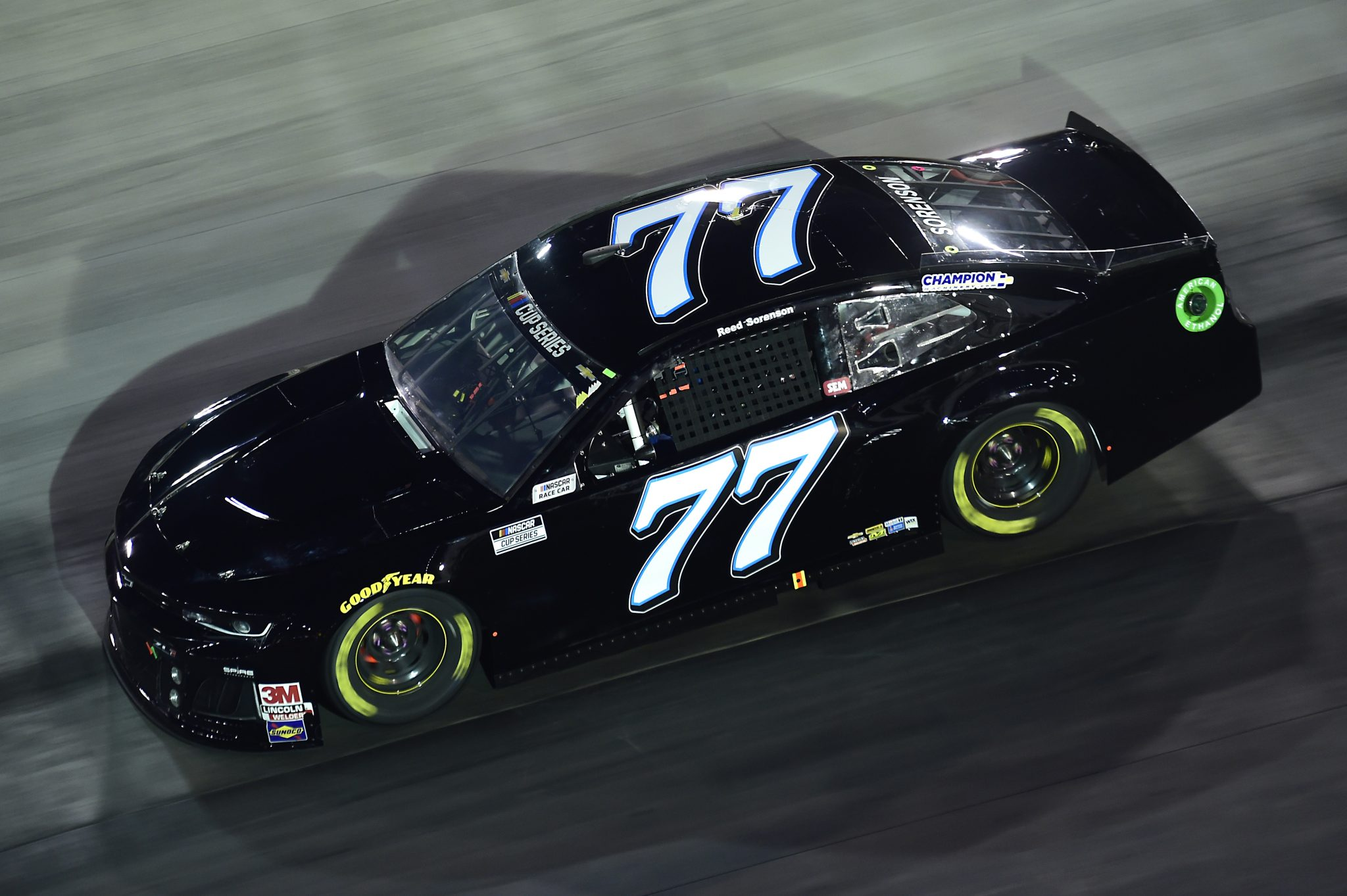 BRISTOL, TENNESSEE - SEPTEMBER 19: Reed Sorenson, driver of the #77 Betterforyourhealth.com Chevrolet, drives during the NASCAR Cup Series Bass Pro Shops Night Race at Bristol Motor Speedway on September 19, 2020 in Bristol, Tennessee. (Photo by Jared C. Tilton/Getty Images) | Getty Images