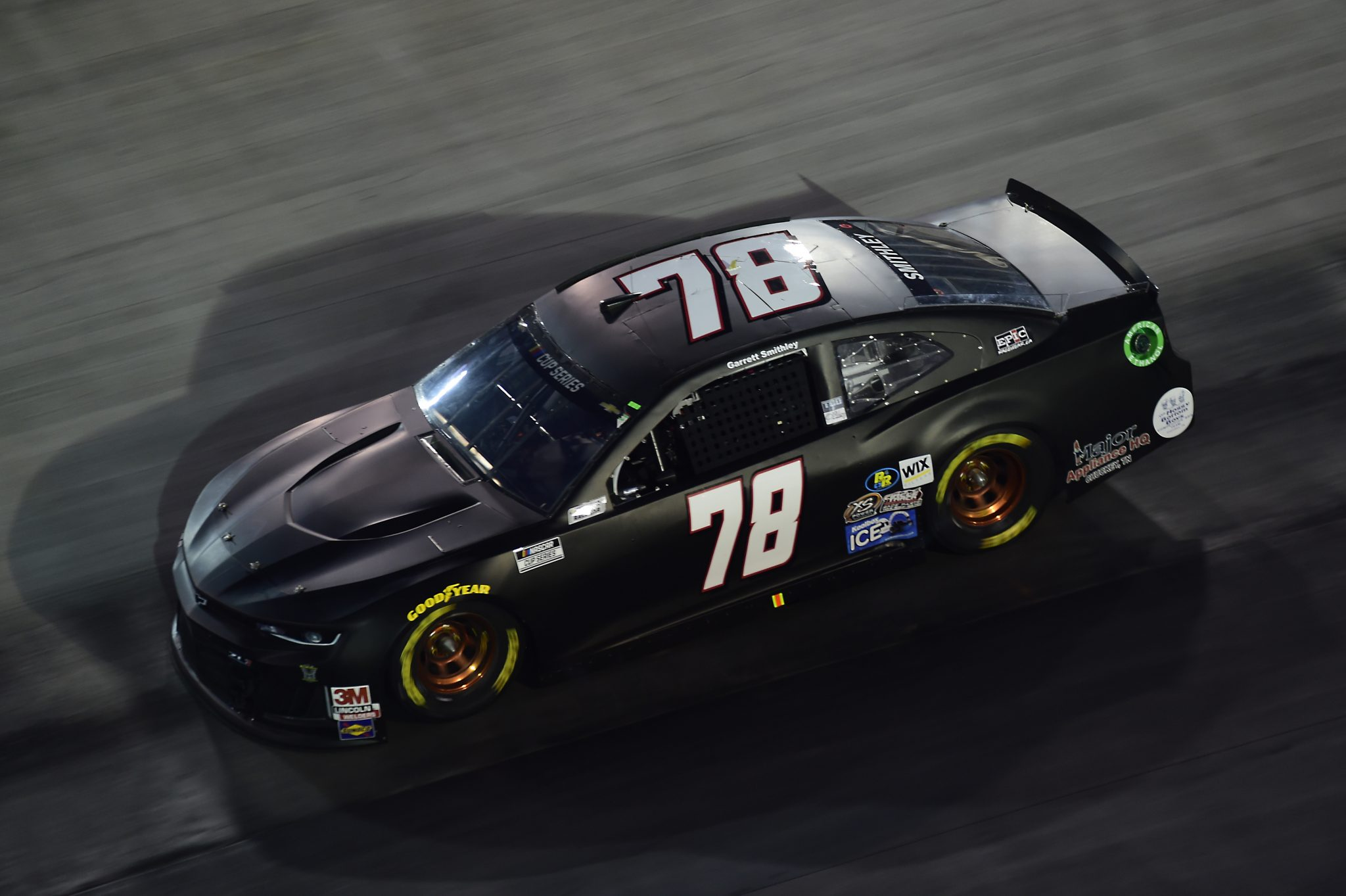 BRISTOL, TENNESSEE - SEPTEMBER 19: Garrett Smithley, driver of the #78 Chevrolet, drives during the NASCAR Cup Series Bass Pro Shops Night Race at Bristol Motor Speedway on September 19, 2020 in Bristol, Tennessee. (Photo by Jared C. Tilton/Getty Images) | Getty Images