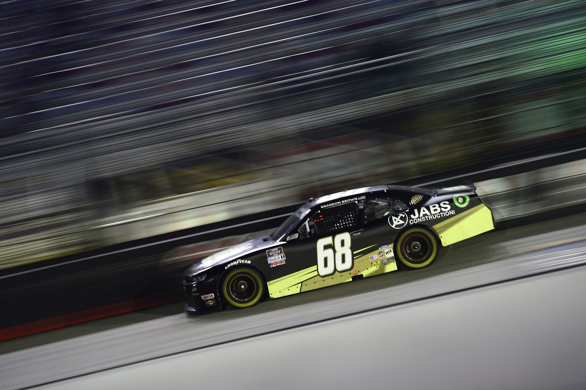 BRISTOL, TENNESSEE - SEPTEMBER 18: Brandon Brown, driver of the #68 Jabs Construction Chevrolet, drives during the NASCAR Xfinity Series Food City 300 at Bristol Motor Speedway on September 18, 2020 in Bristol, Tennessee. (Photo by Jared C. Tilton/Getty Images) | Getty Images