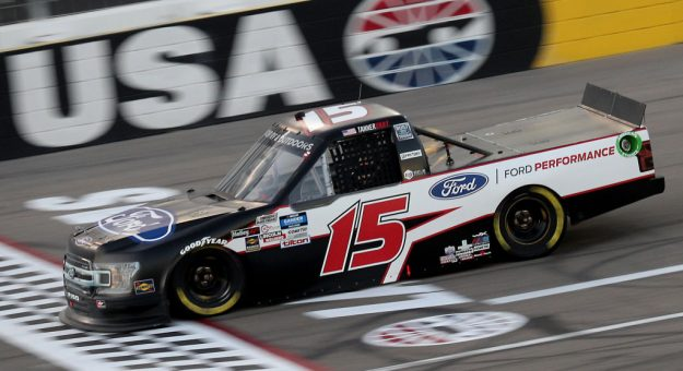 LAS VEGAS, NEVADA - SEPTEMBER 25: Tanner Gray, driver of the #15 Ford/Ford Performance Ford, drives during the NASCAR Gander RV & Outdoors Truck Series World of Westgate 200 at Las Vegas Motor Speedway on September 25, 2020 in Las Vegas, Nevada. (Photo by Chris Graythen/Getty Images)   Getty Images