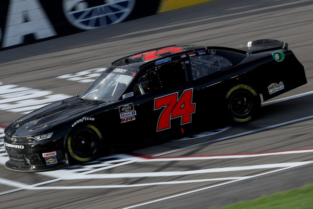 LAS VEGAS, NEVADA - SEPTEMBER 26: Bayley Currey, driver of the #74 Chevrolet, drives during the NASCAR Xfinity Series Alsco 300 at Las Vegas Motor Speedway on September 26, 2020 in Las Vegas, Nevada. (Photo by Chris Graythen/Getty Images) | Getty Images