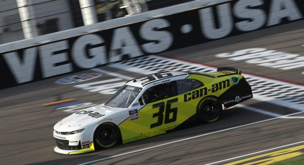 LAS VEGAS, NEVADA - SEPTEMBER 26: Alex Labbe, driver of the #36 Can-Am Chevrolet, drives during the NASCAR Xfinity Series Alsco 300 at Las Vegas Motor Speedway on September 26, 2020 in Las Vegas, Nevada. (Photo by Chris Graythen/Getty Images) | Getty Images