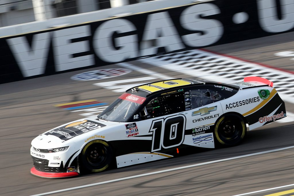 LAS VEGAS, NEVADA - SEPTEMBER 26: Ross Chastain, driver of the #10 Chevy Accessories Chevrolet, drives during the NASCAR Xfinity Series Alsco 300 at Las Vegas Motor Speedway on September 26, 2020 in Las Vegas, Nevada. (Photo by Chris Graythen/Getty Images) | Getty Images