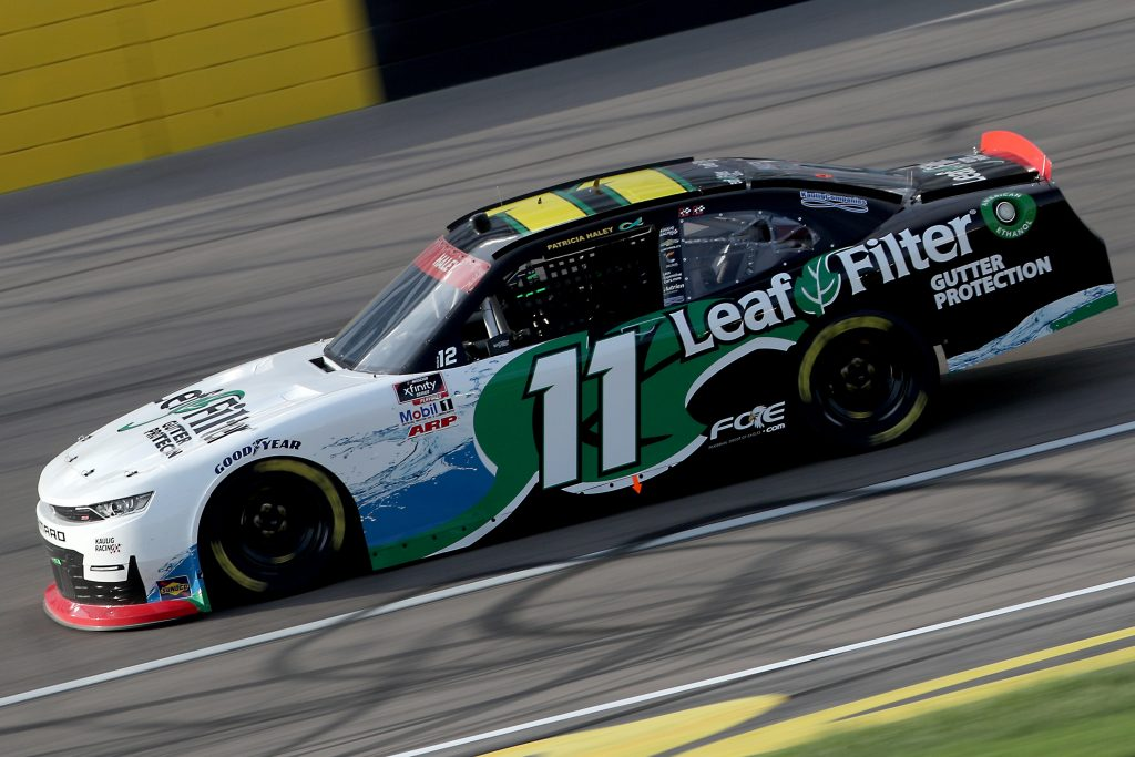 LAS VEGAS, NEVADA - SEPTEMBER 26: Justin Haley, driver of the #11 LeafFilter Gutter Protection Chevrolet, drives during the NASCAR Xfinity Series Alsco 300 at Las Vegas Motor Speedway on September 26, 2020 in Las Vegas, Nevada. (Photo by Chris Graythen/Getty Images) | Getty Images