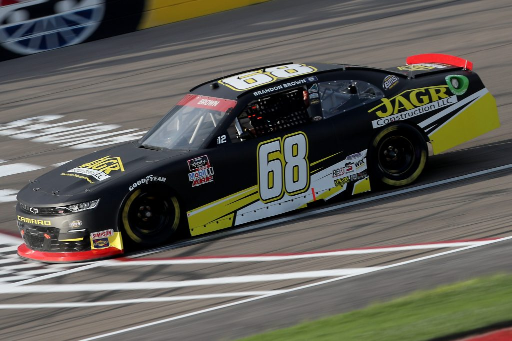 LAS VEGAS, NEVADA - SEPTEMBER 26: Brandon Brown, driver of the #68 Jabs Construction Chevrolet, drives during the NASCAR Xfinity Series Alsco 300 at Las Vegas Motor Speedway on September 26, 2020 in Las Vegas, Nevada. (Photo by Chris Graythen/Getty Images) | Getty Images