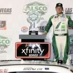 LAS VEGAS, NEVADA - SEPTEMBER 26: Chase Briscoe, driver of the #98 FIELDS Ford, celebrates in Victory Lane after winning the NASCAR Xfinity Series Alsco 300 at Las Vegas Motor Speedway on September 26, 2020 in Las Vegas, Nevada. (Photo by Chris Graythen/Getty Images) | Getty Images