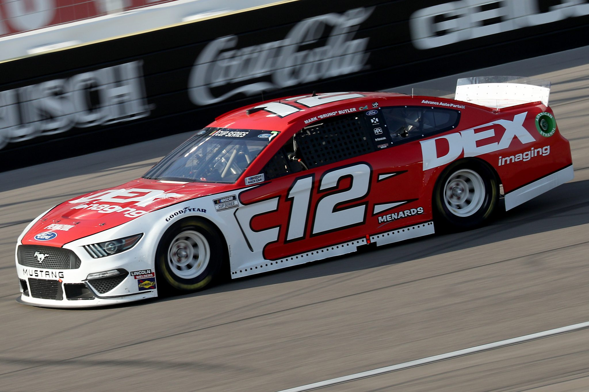 LAS VEGAS, NEVADA - SEPTEMBER 27: Ryan Blaney, driver of the #12 DEX Imaging Ford, drives during the NASCAR Cup Series South Point 400 at Las Vegas Motor Speedway on September 27, 2020 in Las Vegas, Nevada. (Photo by Chris Graythen/Getty Images) | Getty Images