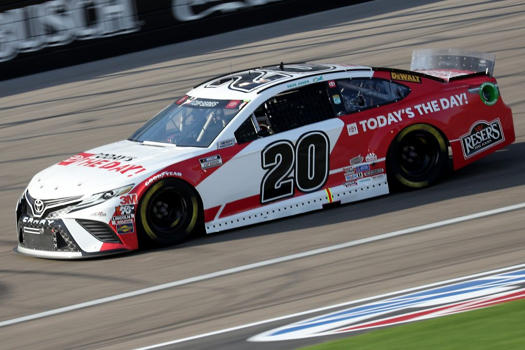 LAS VEGAS, NEVADA - SEPTEMBER 27: Erik Jones, driver of the #20 Today's The Day Toyota, drives during the NASCAR Cup Series South Point 400 at Las Vegas Motor Speedway on September 27, 2020 in Las Vegas, Nevada. (Photo by Chris Graythen/Getty Images) | Getty Images
