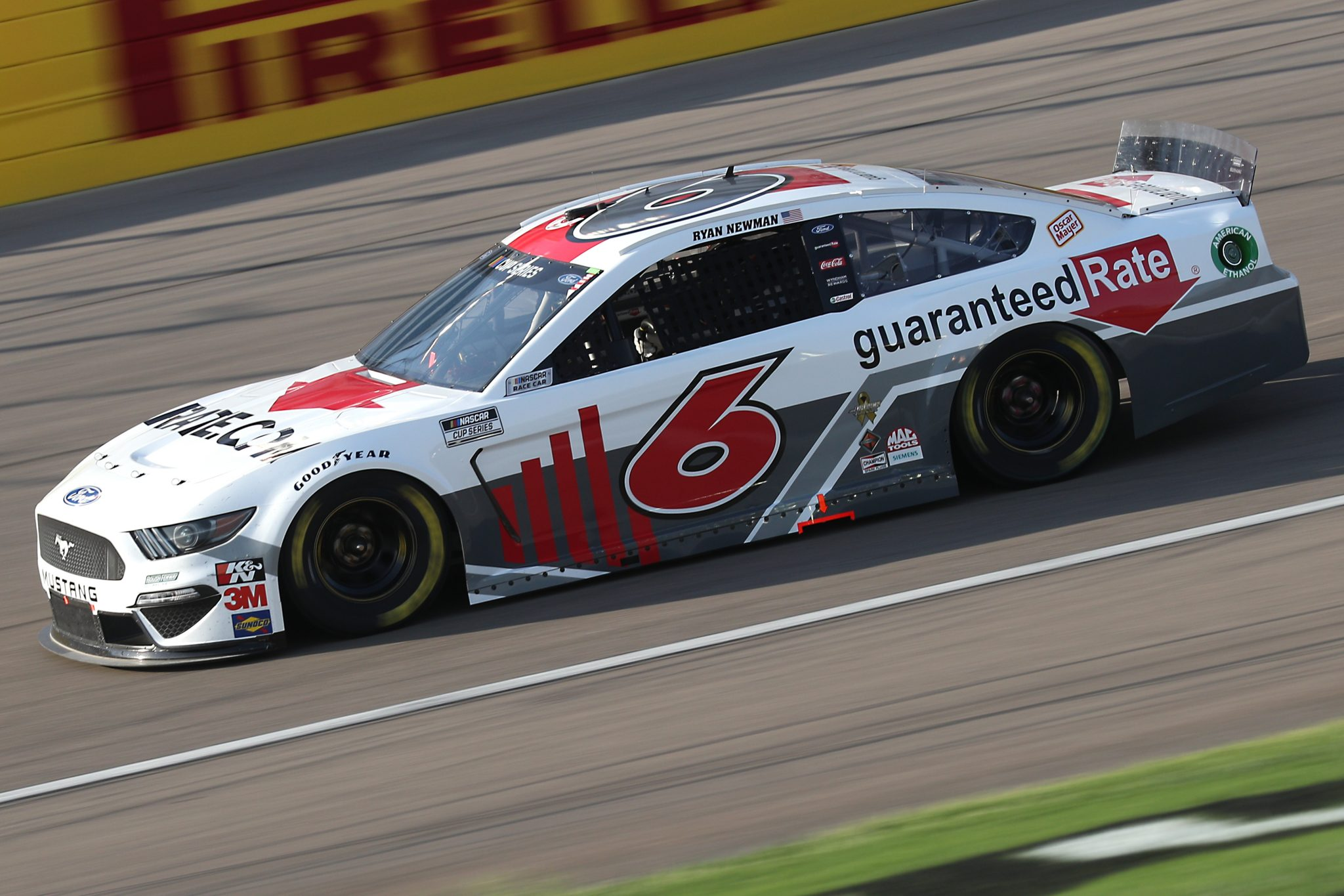 LAS VEGAS, NEVADA - SEPTEMBER 27: Ryan Newman, driver of the #6 Guaranteed Rate Ford, drives during the NASCAR Cup Series South Point 400 at Las Vegas Motor Speedway on September 27, 2020 in Las Vegas, Nevada. (Photo by Chris Graythen/Getty Images) | Getty Images