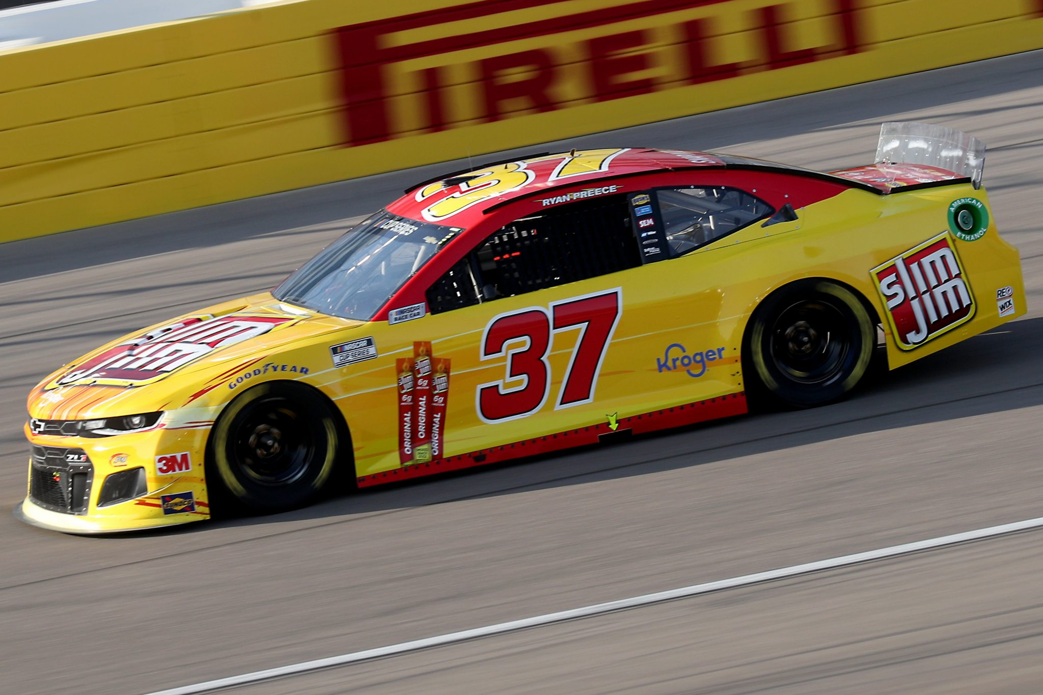LAS VEGAS, NEVADA - SEPTEMBER 27: Ryan Preece, driver of the #37 Slim Jim Chevrolet, drives during the NASCAR Cup Series South Point 400 at Las Vegas Motor Speedway on September 27, 2020 in Las Vegas, Nevada. (Photo by Chris Graythen/Getty Images) | Getty Images