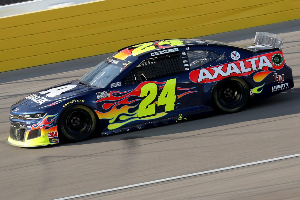 LAS VEGAS, NEVADA - SEPTEMBER 27: William Byron, driver of the #24 Axalta Chevrolet, drives during the NASCAR Cup Series South Point 400 at Las Vegas Motor Speedway on September 27, 2020 in Las Vegas, Nevada. (Photo by Chris Graythen/Getty Images) | Getty Images