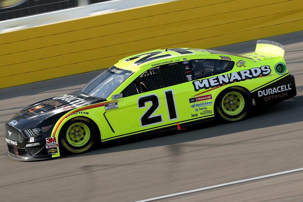LAS VEGAS, NEVADA - SEPTEMBER 27: Matt DiBenedetto, driver of the #21 Menards/Duracell Ford, drives during the NASCAR Cup Series South Point 400 at Las Vegas Motor Speedway on September 27, 2020 in Las Vegas, Nevada. (Photo by Chris Graythen/Getty Images) | Getty Images