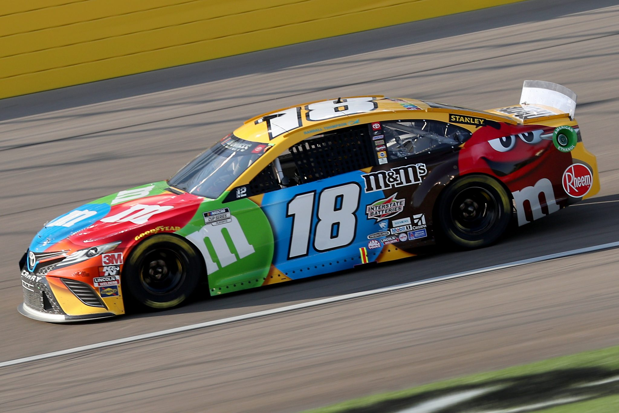 LAS VEGAS, NEVADA - SEPTEMBER 27: Kyle Busch, driver of the #18 M&M's Toyota, drives during the NASCAR Cup Series South Point 400 at Las Vegas Motor Speedway on September 27, 2020 in Las Vegas, Nevada. (Photo by Chris Graythen/Getty Images) | Getty Images