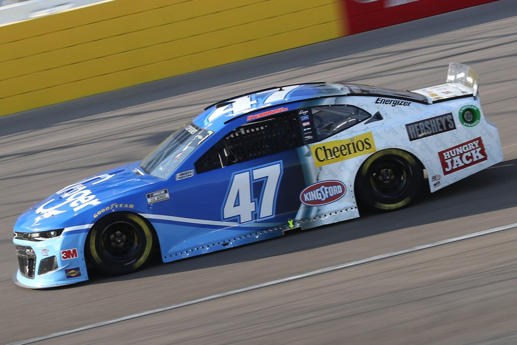 LAS VEGAS, NEVADA - SEPTEMBER 27: Ricky Stenhouse Jr., driver of the #47 Kroger Chevrolet, drives during the NASCAR Cup Series South Point 400 at Las Vegas Motor Speedway on September 27, 2020 in Las Vegas, Nevada. (Photo by Chris Graythen/Getty Images) | Getty Images