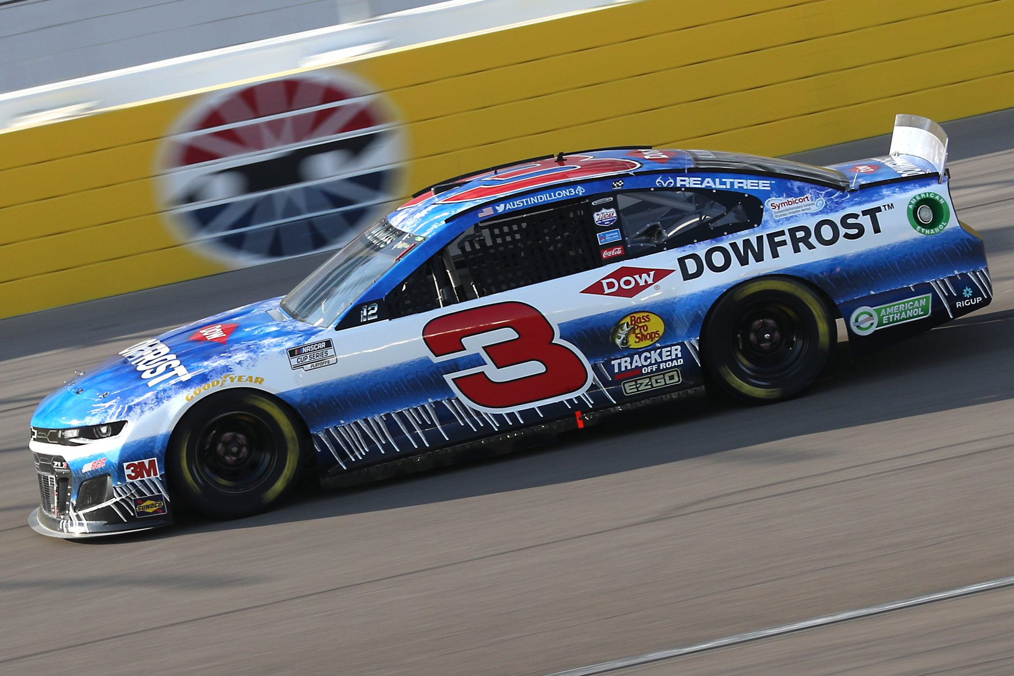 LAS VEGAS, NEVADA - SEPTEMBER 27: Austin Dillon, driver of the #3 DOWFROST Chevrolet, drives during the NASCAR Cup Series South Point 400 at Las Vegas Motor Speedway on September 27, 2020 in Las Vegas, Nevada. (Photo by Chris Graythen/Getty Images) | Getty Images