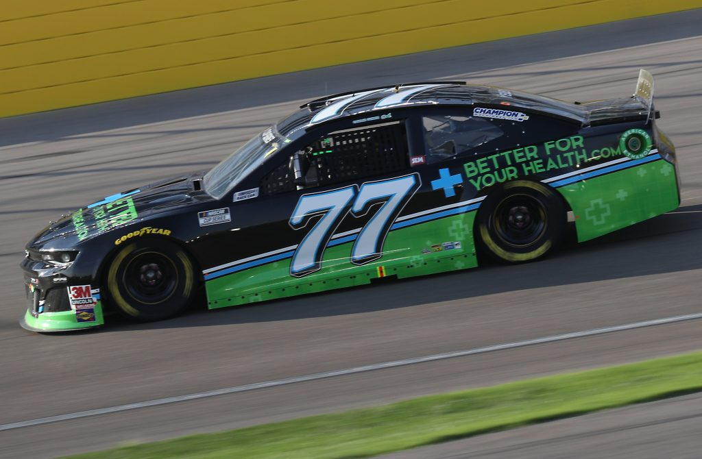 LAS VEGAS, NEVADA - SEPTEMBER 27: JJ Yeley, driver of the #77 BetterForYourHealth Chevrolet, drives during the NASCAR Cup Series South Point 400 at Las Vegas Motor Speedway on September 27, 2020 in Las Vegas, Nevada. (Photo by Chris Graythen/Getty Images) | Getty Images