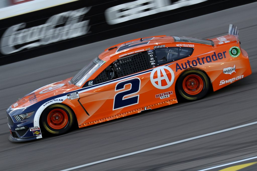 LAS VEGAS, NEVADA - SEPTEMBER 27: Brad Keselowski, driver of the #2 Autotrader Ford, drives during the NASCAR Cup Series South Point 400 at Las Vegas Motor Speedway on September 27, 2020 in Las Vegas, Nevada. (Photo by Chris Graythen/Getty Images) | Getty Images