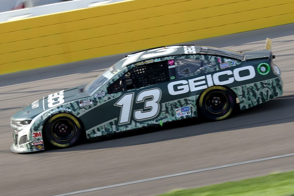 LAS VEGAS, NEVADA - SEPTEMBER 27: Ty Dillon, driver of the #13 GEICO Military Chevrolet, drives during the NASCAR Cup Series South Point 400 at Las Vegas Motor Speedway on September 27, 2020 in Las Vegas, Nevada. (Photo by Chris Graythen/Getty Images) | Getty Images