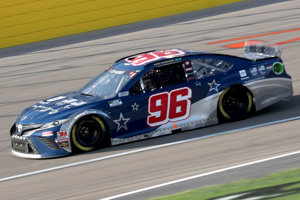 LAS VEGAS, NEVADA - SEPTEMBER 27: Daniel Suarez, driver of the #96 Team USA Toyota Camry Toyota, drives during the NASCAR Cup Series South Point 400 at Las Vegas Motor Speedway on September 27, 2020 in Las Vegas, Nevada. (Photo by Chris Graythen/Getty Images) | Getty Images
