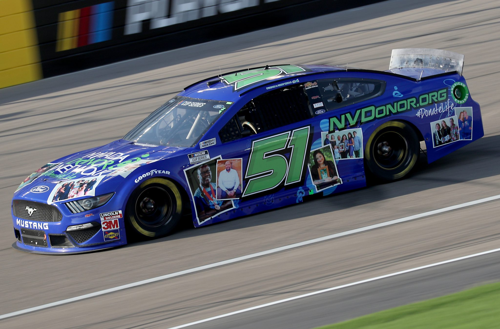 LAS VEGAS, NEVADA - SEPTEMBER 27: Joey Gase, driver of the #51 Nevada Donate Life Ford, drives during the NASCAR Cup Series South Point 400 at Las Vegas Motor Speedway on September 27, 2020 in Las Vegas, Nevada. (Photo by Chris Graythen/Getty Images) | Getty Images