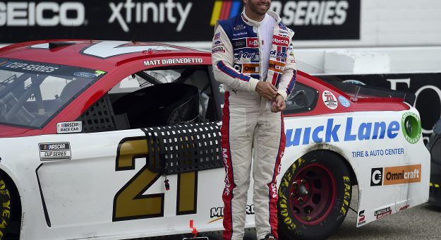 LOUDON, NEW HAMPSHIRE - AUGUST 02: Matt DiBenedetto, driver of the #21 Motorcraft/Quick Lane Ford, exits his car after the NASCAR Cup Series Foxwoods Resort Casino 301 at New Hampshire Motor Speedway on August 02, 2020 in Loudon, New Hampshire. (Photo by Jared C. Tilton/Getty Images) | Getty Images