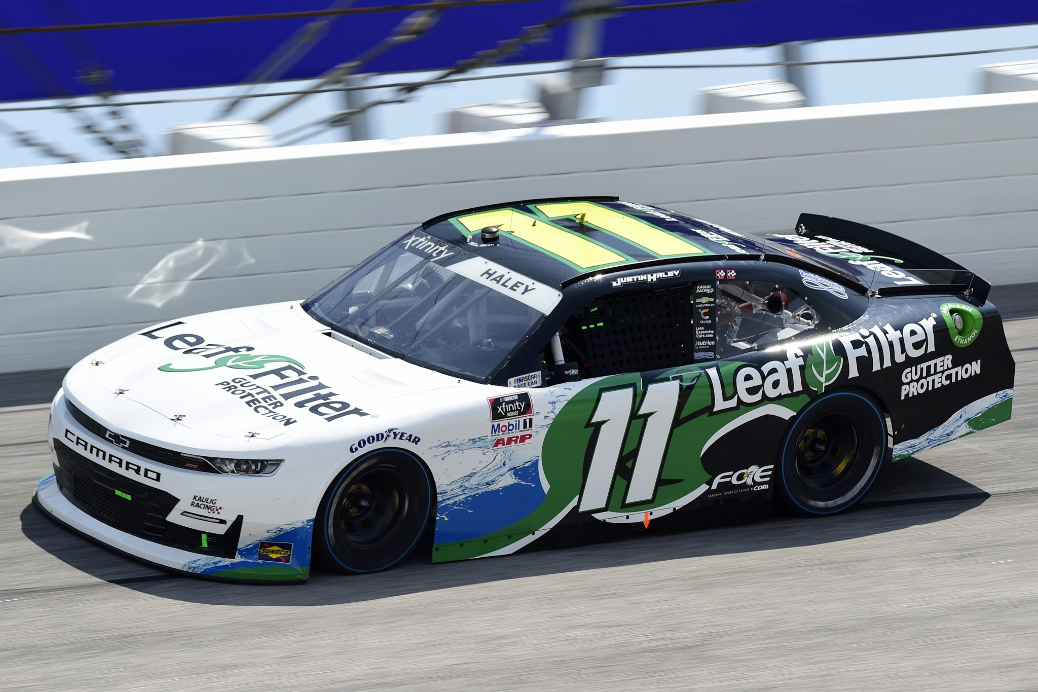 DARLINGTON, SOUTH CAROLINA - SEPTEMBER 05: Justin Haley, driver of the #11 LeafFilter Gutter Protection Chevrolet, drives during the NASCAR Xfinity Series Sport Clips Haircuts VFW 200 at Darlington Raceway on September 05, 2020 in Darlington, South Carolina. (Photo by Jared C. Tilton/Getty Images)   Getty Images