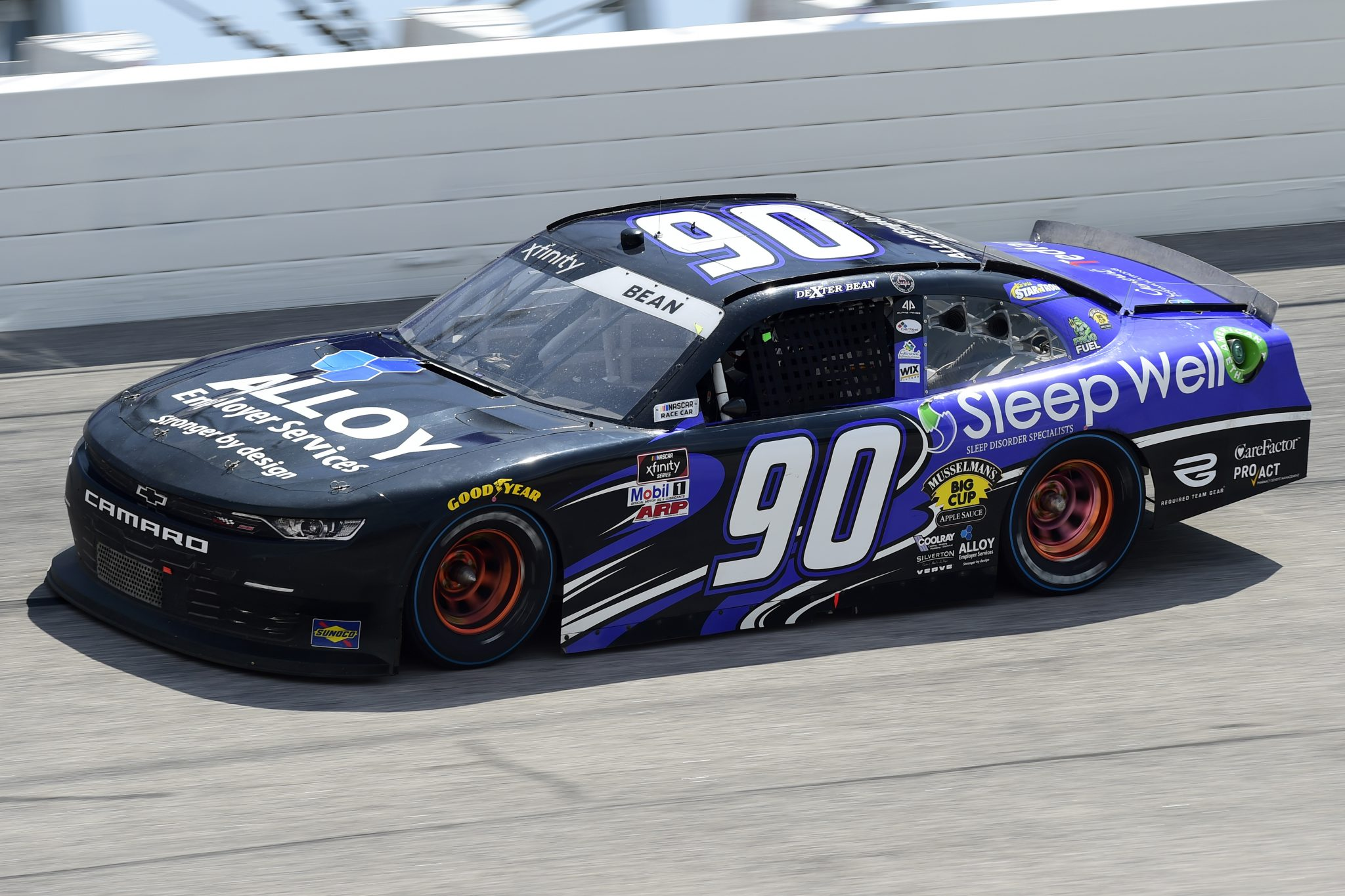 DARLINGTON, SOUTH CAROLINA - SEPTEMBER 05: Dexter Bean, driver of the #90 Chevrolet, drives during the NASCAR Xfinity Series Sport Clips Haircuts VFW 200 at Darlington Raceway on September 05, 2020 in Darlington, South Carolina. (Photo by Jared C. Tilton/Getty Images) | Getty Images