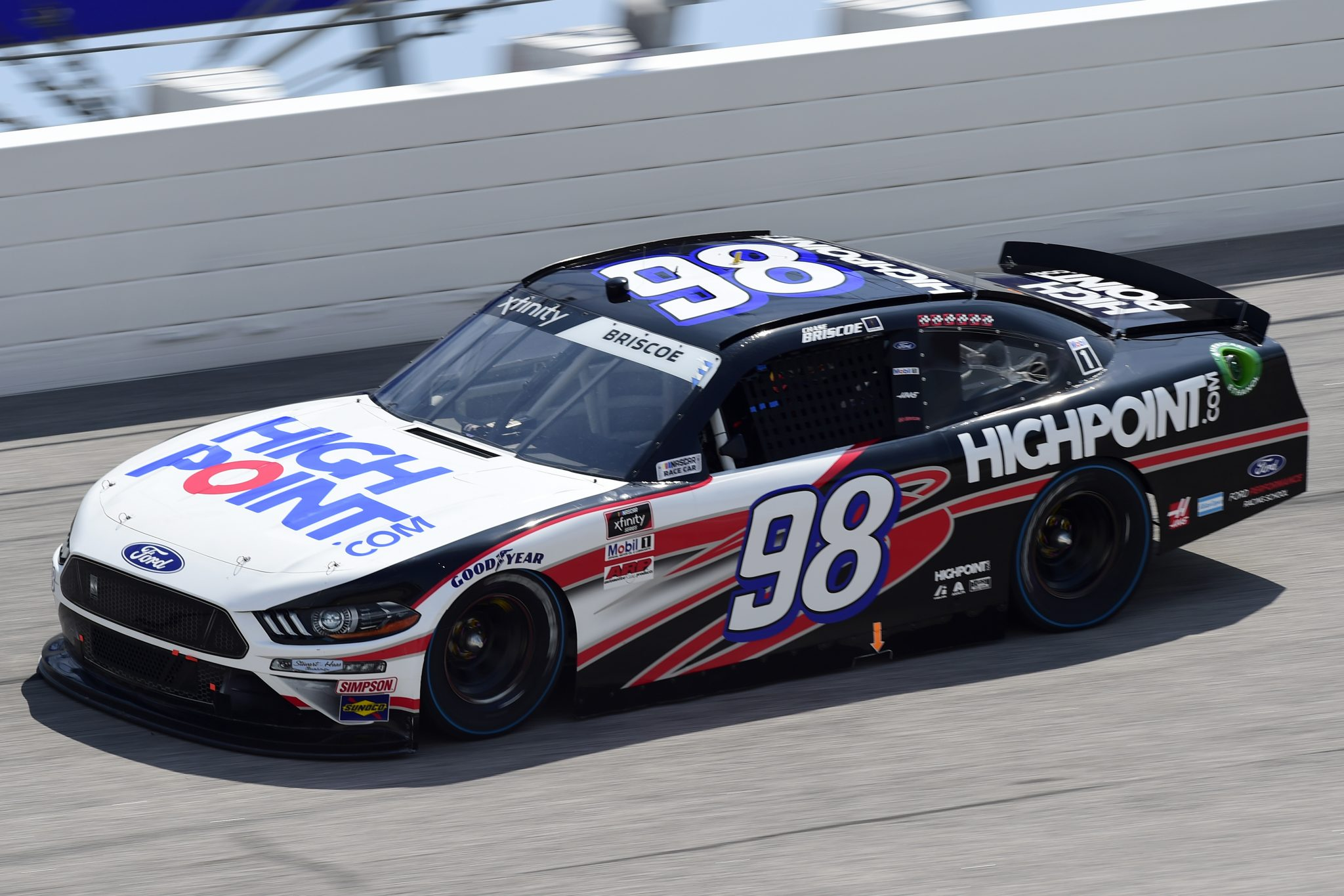 DARLINGTON, SOUTH CAROLINA - SEPTEMBER 05: Chase Briscoe, driver of the #98 Highpoint.com Ford, drives during the NASCAR Xfinity Series Sport Clips Haircuts VFW 200 at Darlington Raceway on September 05, 2020 in Darlington, South Carolina. (Photo by Jared C. Tilton/Getty Images) | Getty Images