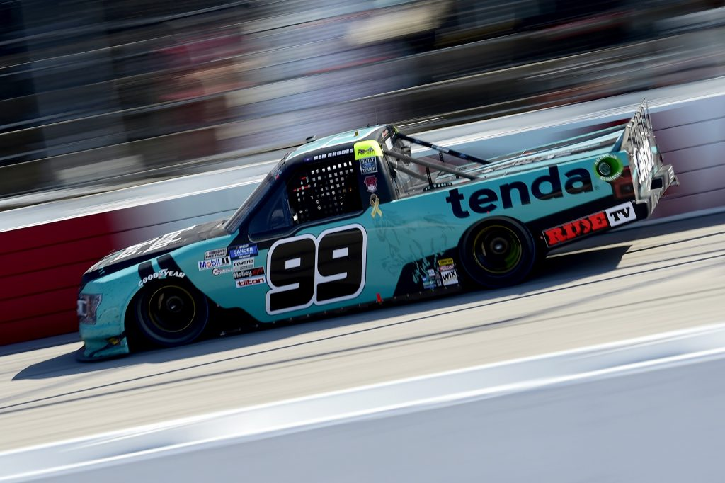 DARLINGTON, SOUTH CAROLINA - SEPTEMBER 06: Ben Rhodes, driver of the #99 Tenda Ford, drives during the NASCAR Gander Outdoors Truck Series South Carolina Education Lottery 200 at Darlington Raceway on September 06, 2020 in Darlington, South Carolina. (Photo by Jared C. Tilton/Getty Images) | Getty Images