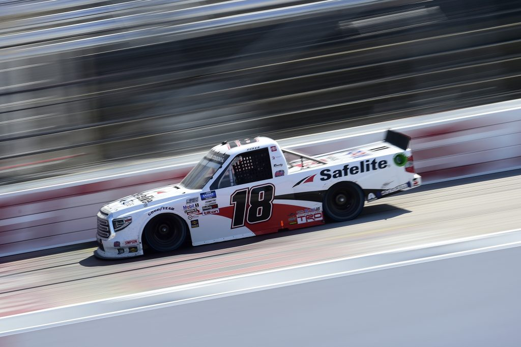 DARLINGTON, SOUTH CAROLINA - SEPTEMBER 06: Christian Eckes, driver of the #18 Safelite AutoGlass Toyota, drives during the NASCAR Gander Outdoors Truck Series South Carolina Education Lottery 200 at Darlington Raceway on September 06, 2020 in Darlington, South Carolina. (Photo by Jared C. Tilton/Getty Images) | Getty Images