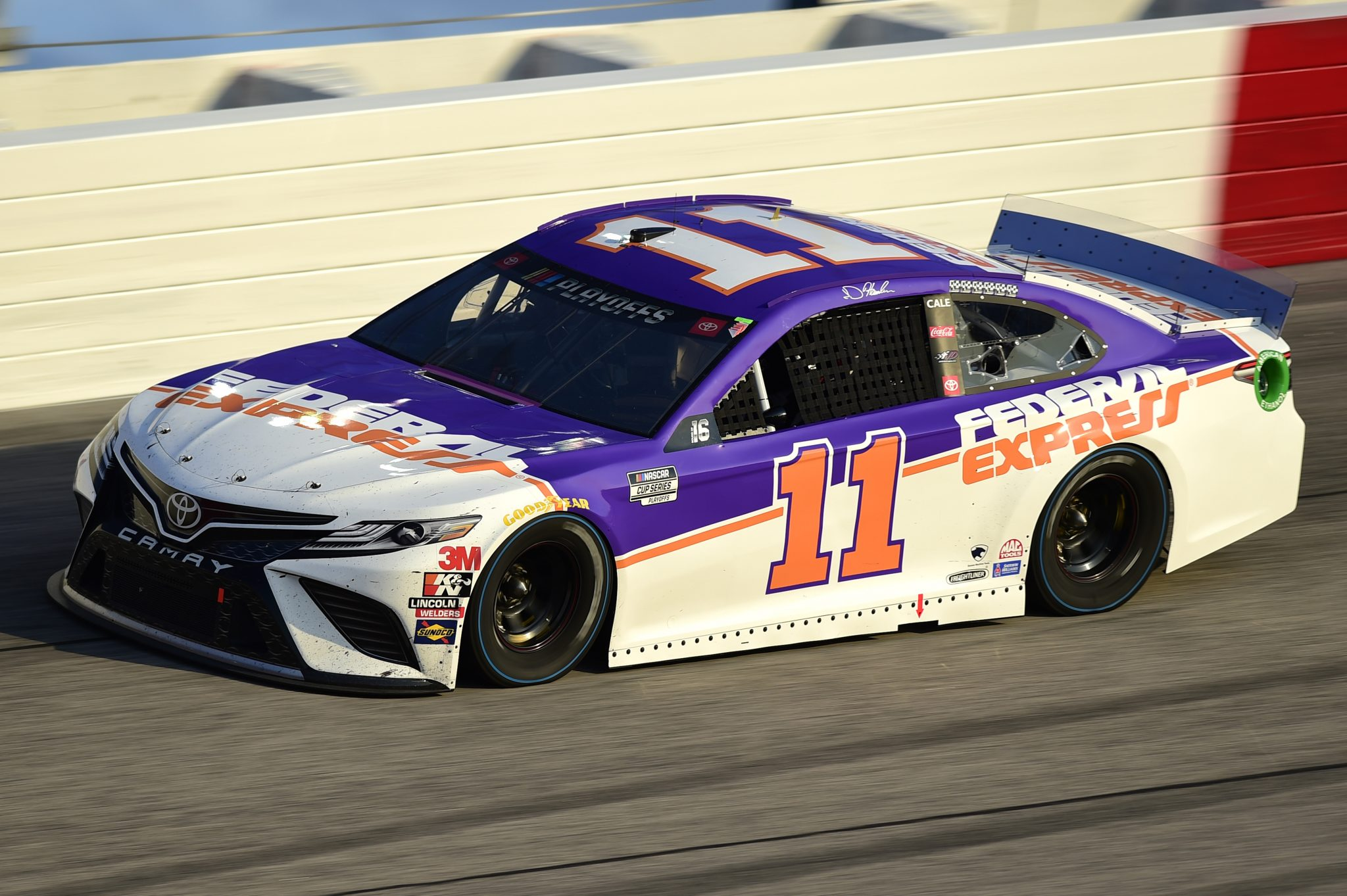 DARLINGTON, SOUTH CAROLINA - SEPTEMBER 06: Denny Hamlin, driver of the #11 Federal Express Toyota, drives during the NASCAR Cup Series Cook Out Southern 500 at Darlington Raceway on September 06, 2020 in Darlington, South Carolina. (Photo by Jared C. Tilton/Getty Images) | Getty Images