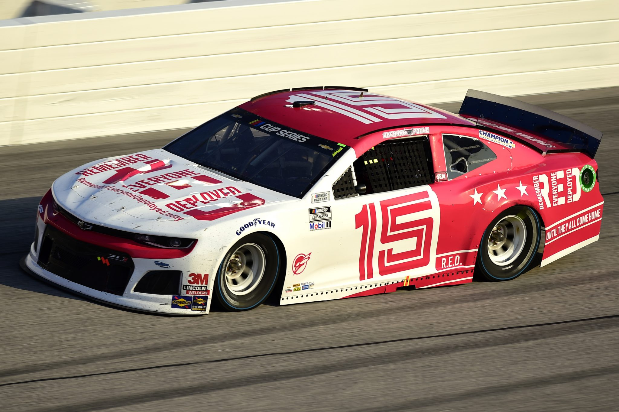 DARLINGTON, SOUTH CAROLINA - SEPTEMBER 06: Brennan Poole, driver of the #15 Chevrolet, drives during the NASCAR Cup Series Cook Out Southern 500 at Darlington Raceway on September 06, 2020 in Darlington, South Carolina. (Photo by Jared C. Tilton/Getty Images) | Getty Images