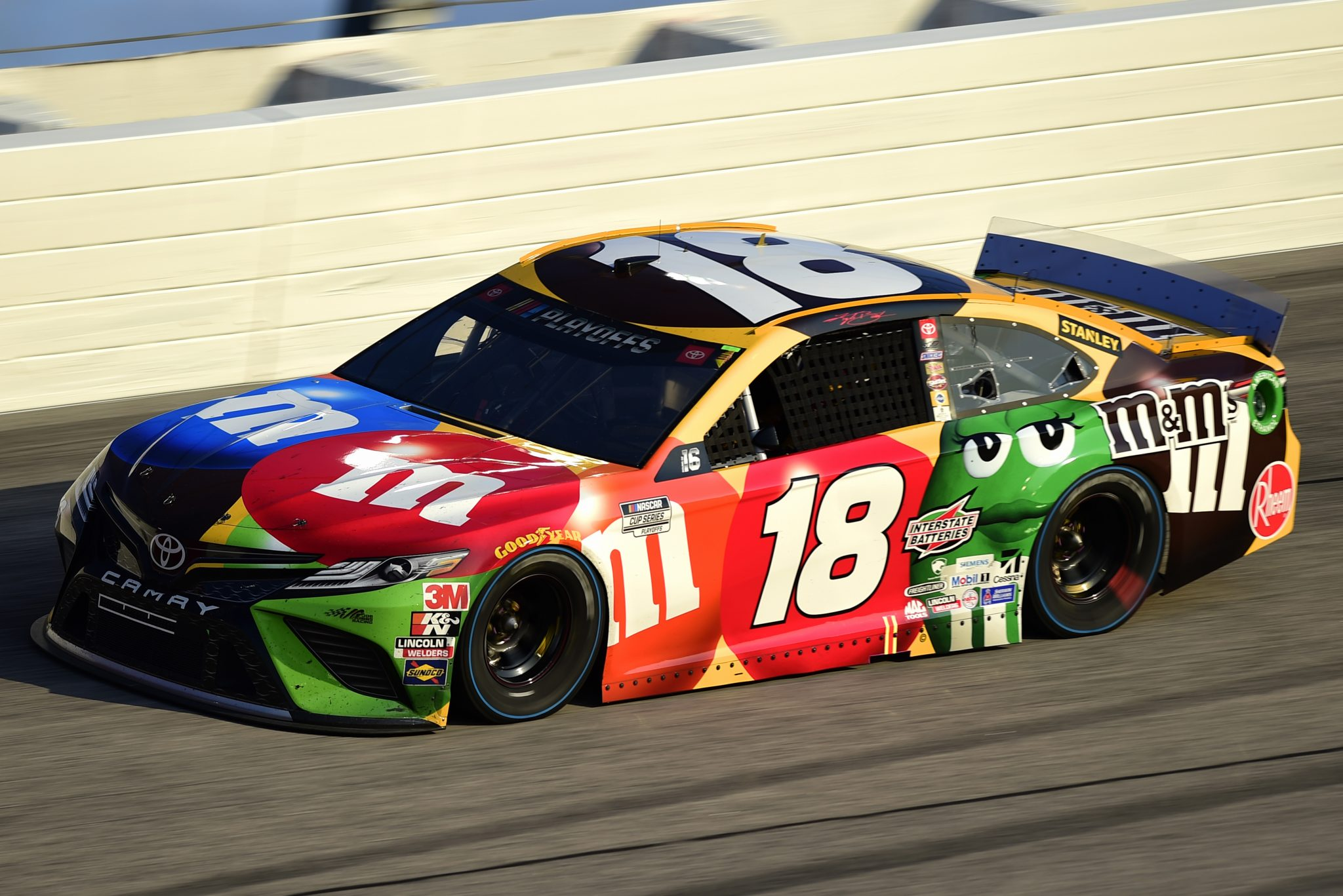 DARLINGTON, SOUTH CAROLINA - SEPTEMBER 06: Kyle Busch, driver of the #18 M&M's Toyota, drives during the NASCAR Cup Series Cook Out Southern 500 at Darlington Raceway on September 06, 2020 in Darlington, South Carolina. (Photo by Jared C. Tilton/Getty Images) | Getty Images