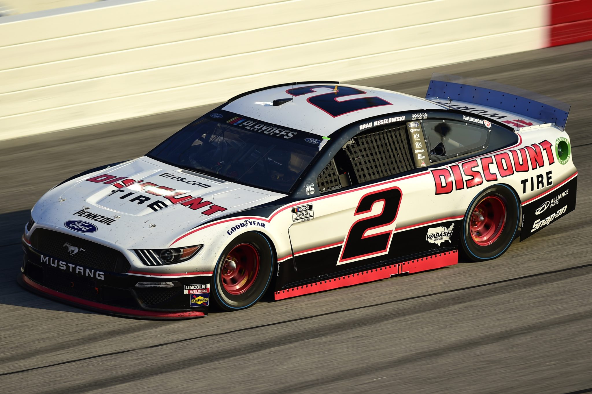 DARLINGTON, SOUTH CAROLINA - SEPTEMBER 06: Brad Keselowski, driver of the #2 Discount Tire Ford, drives during the NASCAR Cup Series Cook Out Southern 500 at Darlington Raceway on September 06, 2020 in Darlington, South Carolina. (Photo by Jared C. Tilton/Getty Images) | Getty Images
