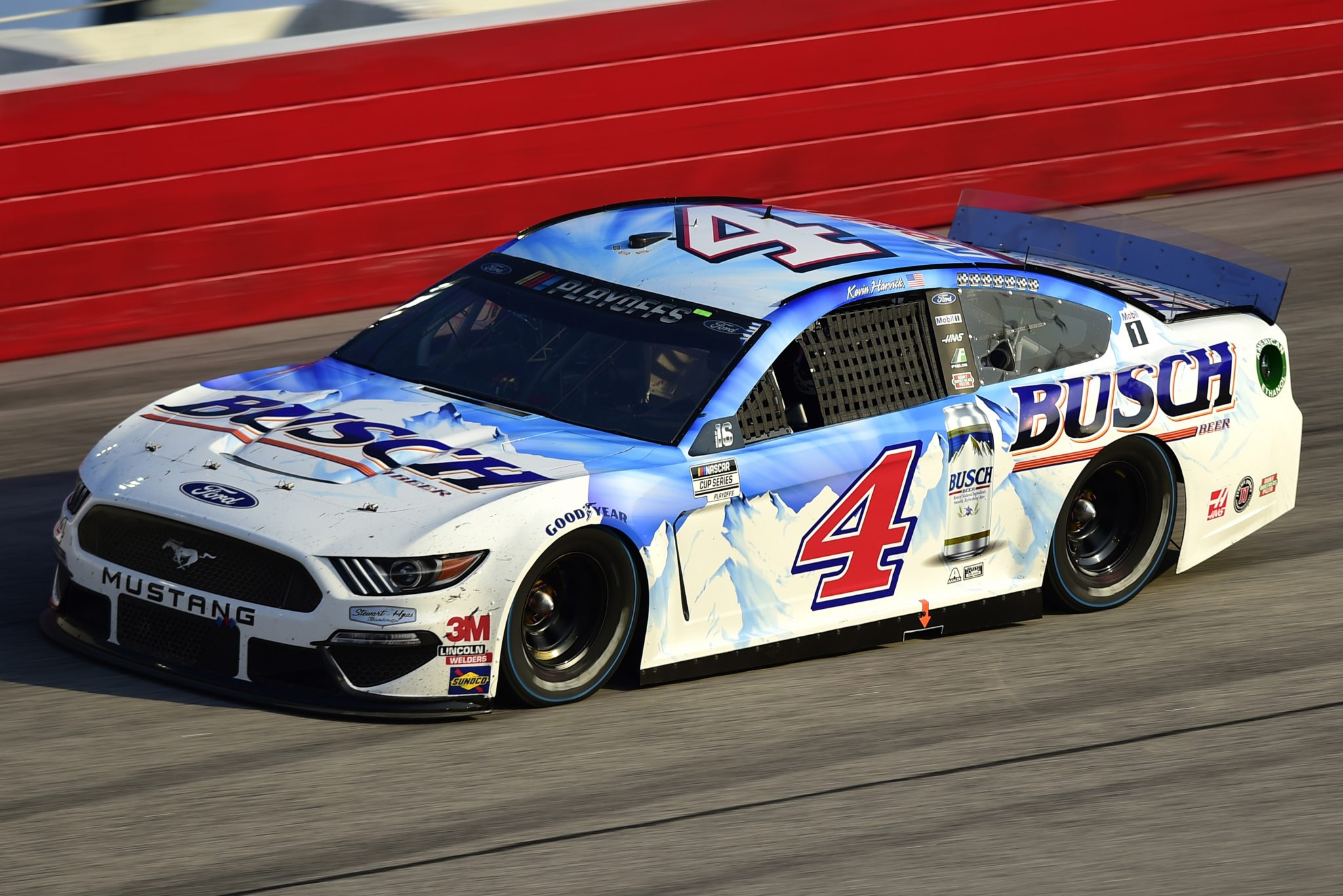 DARLINGTON, SOUTH CAROLINA - SEPTEMBER 06: Kevin Harvick, driver of the #4 Busch Beer Throwback Ford, drives during the NASCAR Cup Series Cook Out Southern 500 at Darlington Raceway on September 06, 2020 in Darlington, South Carolina. (Photo by Jared C. Tilton/Getty Images) | Getty Images