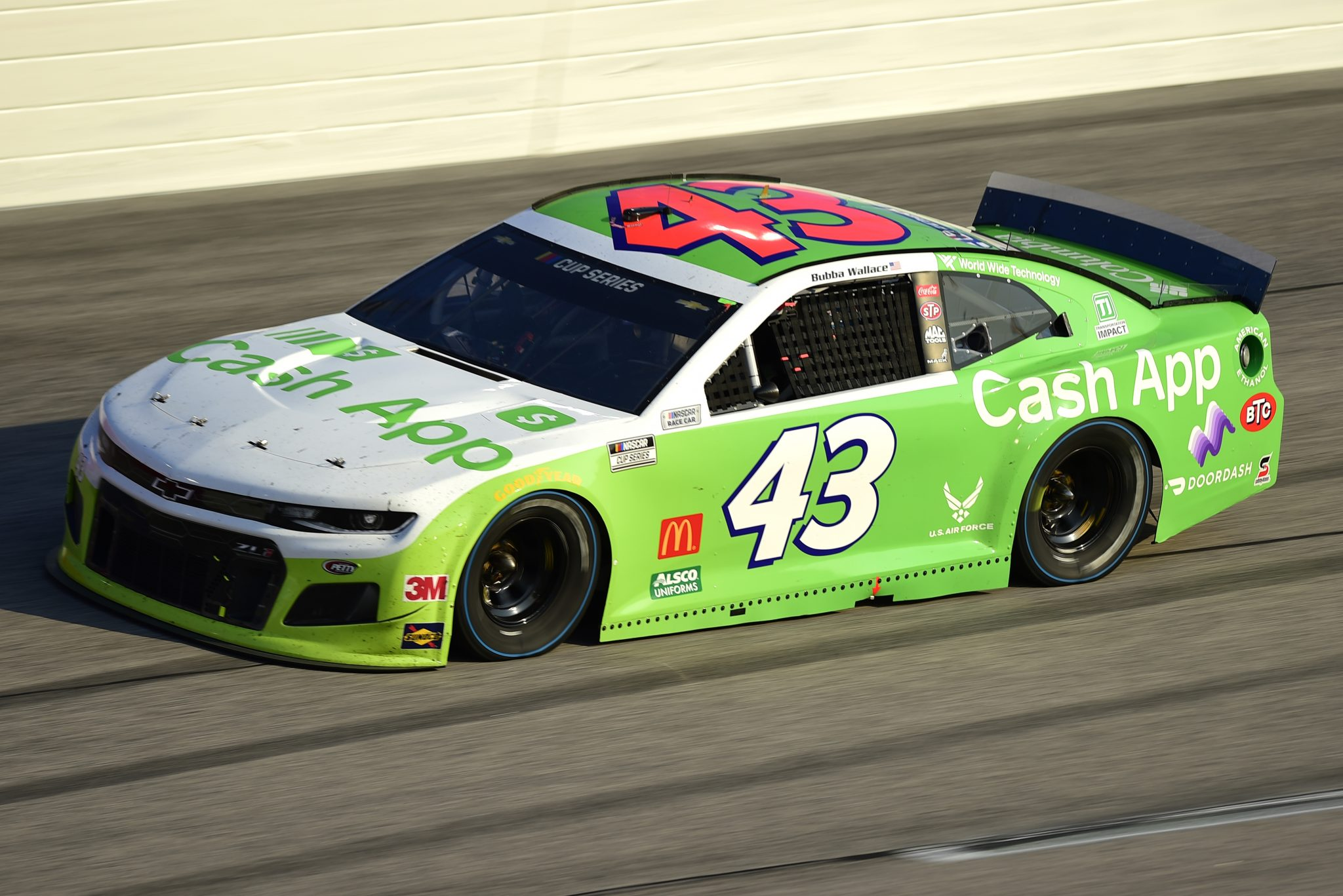 DARLINGTON, SOUTH CAROLINA - SEPTEMBER 06: Bubba Wallace, driver of the #43 Cash App Chevrolet, drives during the NASCAR Cup Series Cook Out Southern 500 at Darlington Raceway on September 06, 2020 in Darlington, South Carolina. (Photo by Jared C. Tilton/Getty Images) | Getty Images